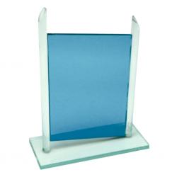 Trofeo de Cristal Panel Azul