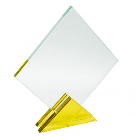 Cristal Cuadrado Amarillo