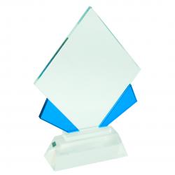 Cristal Cuadrado Azul